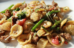 Orecchiette Pasta with Sausage and Broccoli Rabe