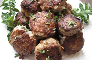 Sausage and Beef Meatballs