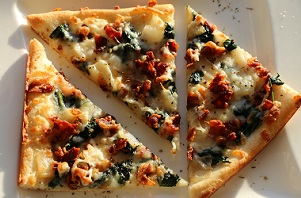 Spinach Bacon Pizza